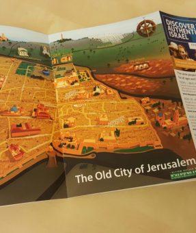 מפה מאויירת של העיר העתיקה של ירושלים