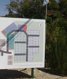 שלט מפת בתים לישוב