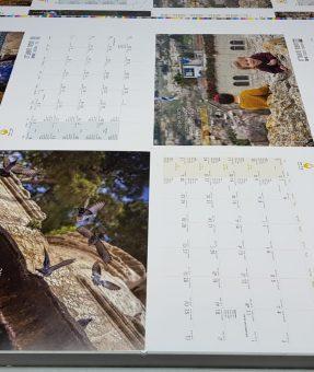 הדפסת לוח שנה ופיקוח על הצבעים
