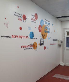 מדבקות צורניות בקיר מפעל