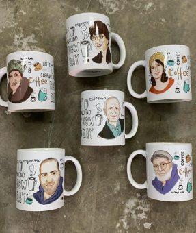 כוס קפה קריקטורה